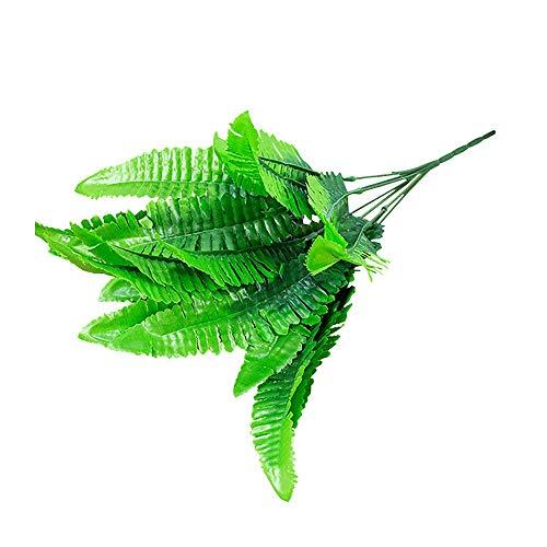 geshiglobal Planta Artificial Hojas De Helecho Falso Simulación Bonsai Flor Paisaje DIY Jardín Boda Decoración De Oficina En Casa Verde
