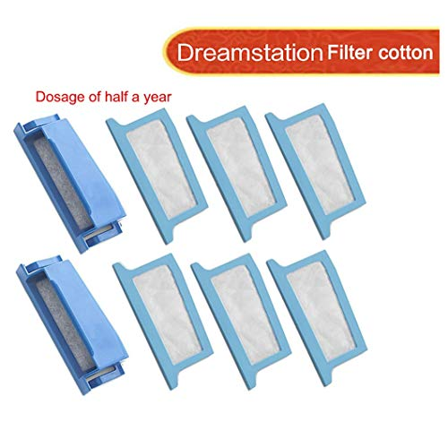 Bearbelly Compatible con Philip-s Respironics DreamStation Filter Kit, Includes 2 Pollen Filter(s) and 6 Disposable Ultra-Fine Filters (2 Pollen 6 Ultra-Fine) (A)