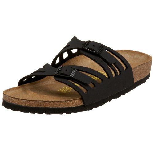Birkenstock Granada Sandal,Black Birkibuc,38 N EU