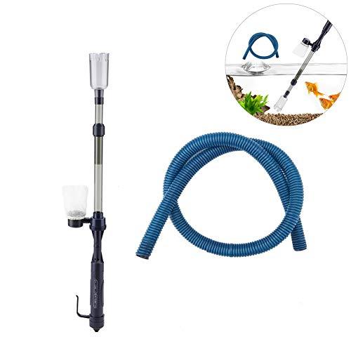 Pssopp Aquarium Reiniger Aquarium Elektrische Kies Reiniger Batteriebetrieben Aquarienstaubsauger Siphon betriebener Kies Wasserfilter Reiniger für Aquarien Algen Kies Schmutz Reinigung