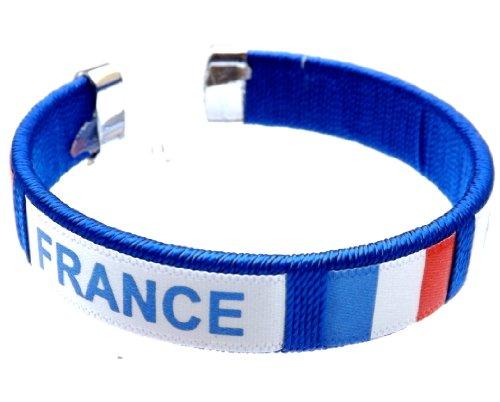 bijouparis Bracelet supporter coupe du monde 2018 drapeau France le bleus Griezmann