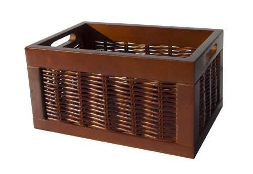 Organize It All Willow Storage Basket With Wood Handles