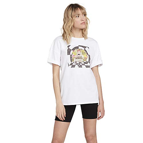 Volcom Schnipps FA SS Camiseta, Mujer, White Flash, XL