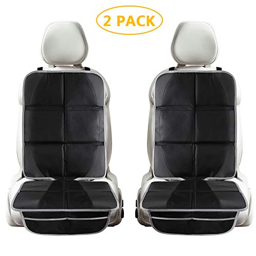 Tchipie 2 Pack Car Seat Protector Under Car Seat for Child Kids, Waterproof Baby Auto Carseat...
