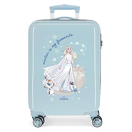 Disney Frozen Adventure Of My Mind Valigia da cabina blu 34 x 55 x 20 cm rigida ABS chiusura a combinazione laterale 32 l 2,7 kg 4 ruote doppie bagaglio a mano