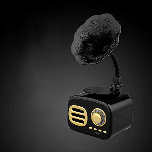 Music Box 50's Retro Tocadiscos Bluetooth 3 velocidades estéreo, mini altavoz inalámbrico Batería recargable incorporada Ranura para tarjeta TF para oficina en casa para entretenimiento Decoración de