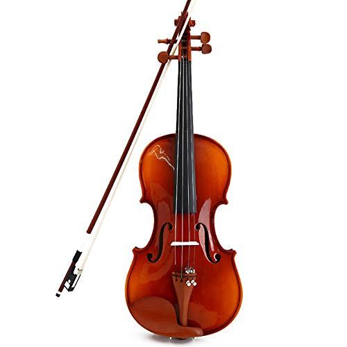 BLKykll 4/4 Geige/Violine Mit Hartschalenkoffer, Bogen, Kolophonium,4/4