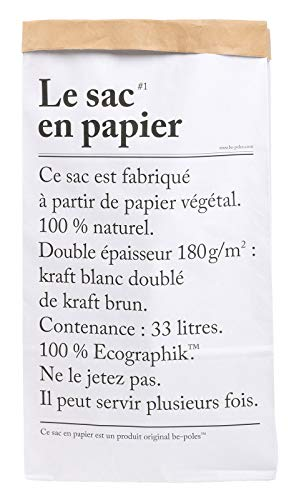 Papiersack Paper Bag Kraft Papier Merchandise Beutel Braun Weiß Papiertüten 33L