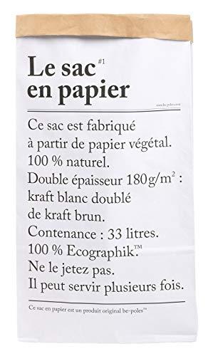 LE Sac EN Papier The Paper Bag 33L Papel de Almacenamiento Bag Kraft!! Paper Bag BE Poles