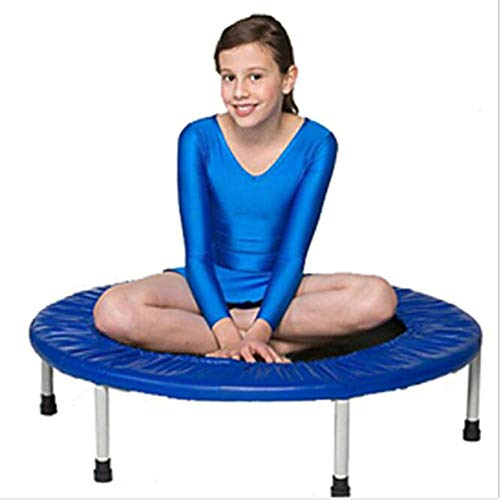 KY&CL Indoor Outdoor Mini Trampoline Gymnastics, 38 inch four folding trampoline for adults gym indoor kids house jumping bed,38' foldable