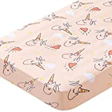 Wowtina Unicorn Microfiber Crib Sheets Soft Toddler Sheets for Baby Girl Breathable Baby Sheets Fitted Crib Sheet Fits Standard Crib (28 x 52 inch) Unicorn