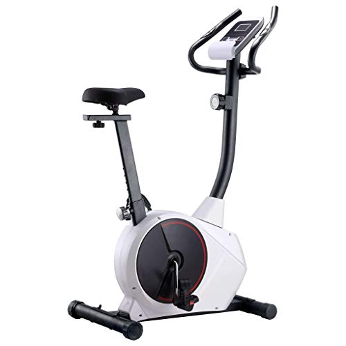 vidaXL Heimtrainer Magnetisch Pulsmessung LCD-Computer-Display Fitness Fahrrad Hometrainer Cardio Ergometer Fitnessbike Trimmrad 120kg Schwungmasse 10kg