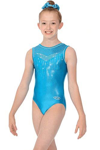 Roch Valley Dancewear Central Nova - Body da ginnastica senza maniche con stampa Kingfisher/Nova 30
