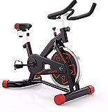 Bicicleta estática de Ciclismo para Interiores, Volante de inercia de 7 kg accionado Directamente por cinturón, Resistencia magnética, manivela de 3 Piezas, para Gimnasio cardiovas