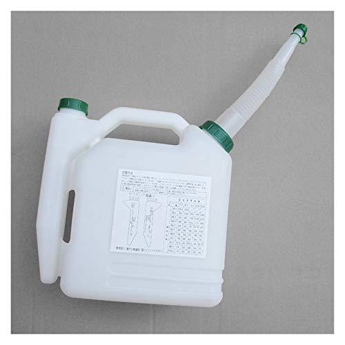 liutao Rasenmäher Ersatzteil 5 Liter Öl Benzin Diesel Mischflasche Tank 2 Takt Öl Mischflasche 20: 1~50: 1 for Trimmer Kettensäge Rasenmäher Teile Durable Zubehör für Gartengeräte