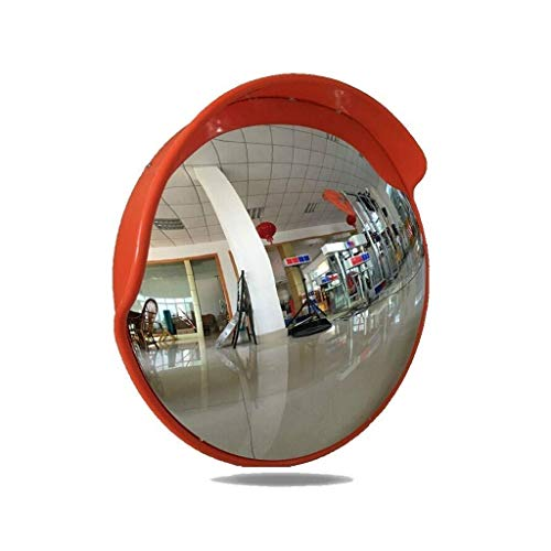 FXLYMR Espejo Convexo Espejo Exterior Conexión Convexa Pc Mirror Calle Calefacción Redondo Espejo de Seguridad Spot Ciego Large Mirror Redondo Vigilancia Anti-Robo Espejo, Adecuado para Estacionamien