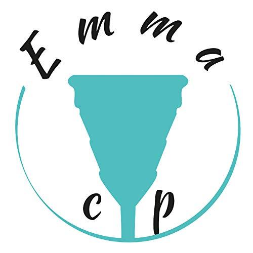 EmmaCup, die faltbare Menstruationstasse – inklusive Clic-Clac-Dose, Stoffbeutel und Becher zur Reinigung - 5