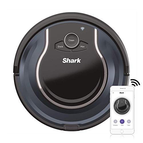 Shark ION ROBOT App-Controlled Robot Vacuum, RV761 - Black / Navy Blue (Renewed) Dining Features Kitchen Robotic Vacuums
