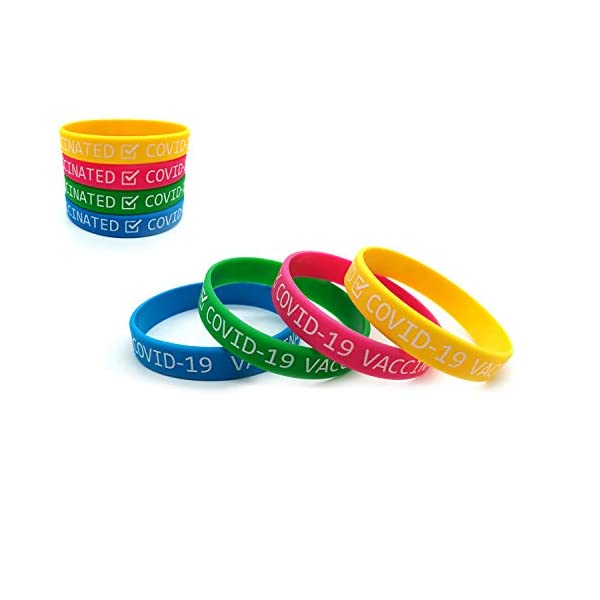 I've Been Vaccinated Silicone Wristbands Vaccinated Covid-19 Bracelets for...