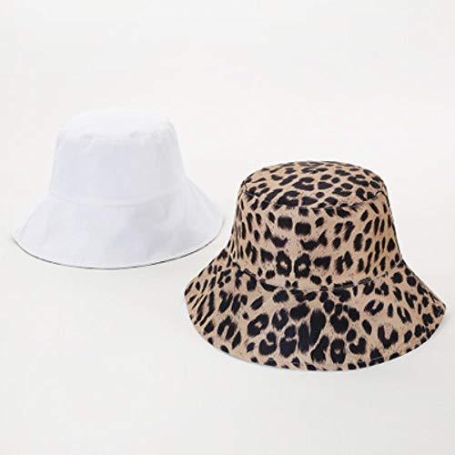 liqun Herbst Winter Warm Faltbar Gestrickter Leopard Zebra Eimer Hut Für Frauen Fischer Hüte Floppy Sonnenschutz Warme Mützen, Weißes Kamel