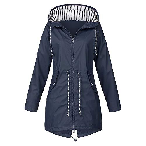 Damen Hoodie Jacke,Winter Sweatshirtjacke mit Kaputzen,Übergangsjacke-Freizeitjacken Thermo Reißverschluss Kapuze Warmer Mantel URIBAKY