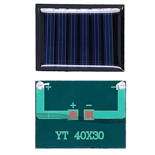 Módulo de panel solar, placa solar Polisilicio Mini paneles solares Carga solar 40x30mm para cargador de juguetes ligeros