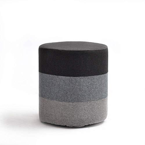 WWW-W-DENG barkruk van stof, creatief, kruk, voor volwassenen, schoenenbank, modieus, kleine bank (kleur: grijs, grootte: rechthoekig), barkruk