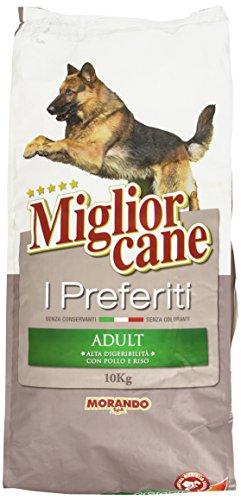 Miglior Cane - I Preferiti, Alimento completo con Pollo e Riso per Cani Adulti - 10000 g