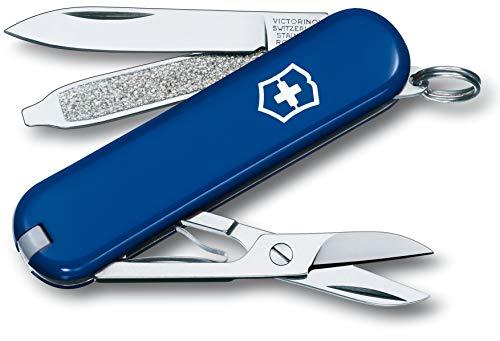 Victorinox 0.6223.2 Taschenmesser Classic SD (7 Funktionen, Klinge, Schere, Nagelfeile) blau