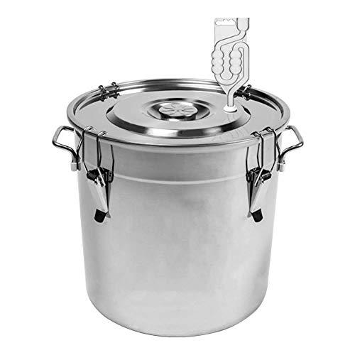 Browin 30L Edelstahl Behälter für die Fermentation Gärbehälter Gäreimer Gärbottich Gärfass