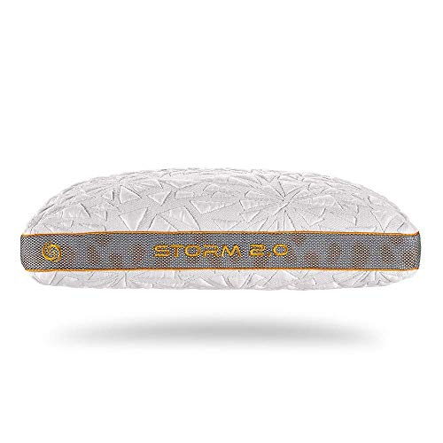 Bedgear Storm Performance Pillow - Instant Cooling - Removable, Washable Cover - Four Pillow Heights for Back, Stomach, Side, and Multi-Position Sleepers - Storm 2.0