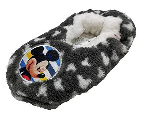 Zapatillas babuchas Infantiles Estar por casa Mickey Disney para niños (27 EU, Gris)
