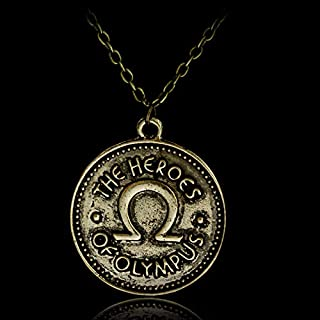 Davitu Percy Jackson Camp Half Blood The Heroes of Olympus Ivlivs Coin Pendants Necklaces Vintage Accessories - (Length: 50cm)