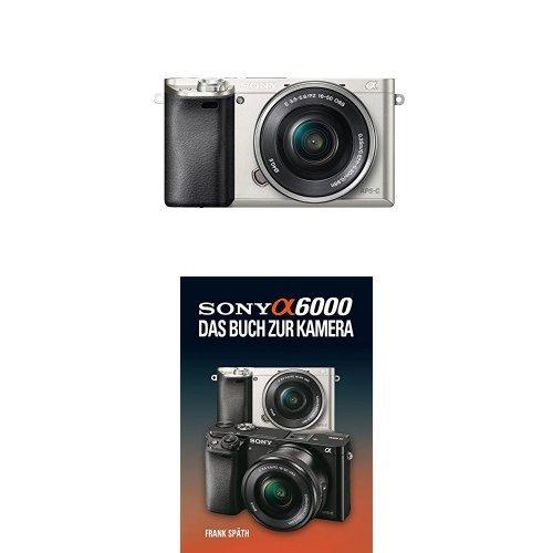 Sony Alpha 6000 Systemkamera inkl. SEL-P1650 Objektiv silber + Sony Alpha 6000 Handbuch
