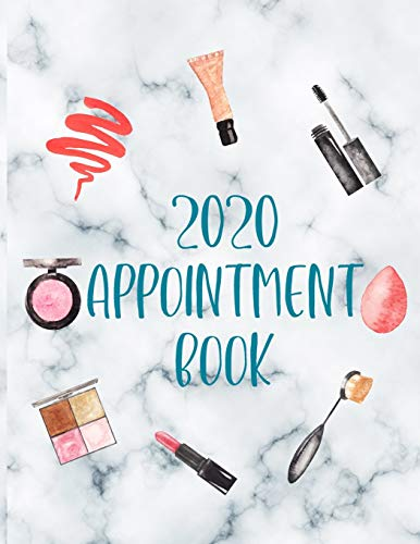 2020 Appointment Book: Makeup Artist Daily Appointment Book with Face Chart Pages