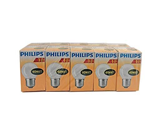 Philips lampen, glas, metaal, mat, verpakking van 10 stuks
