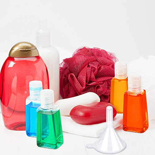 24 Pieces Empty Bottles with Flip Cap Travel Size