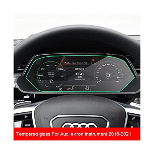 HUANGRONG Coche Pantalla Accesorios Etiqueta Protectora de la película de la Pantalla LCD de Vidrio Templado para Audi E-Tron 2018-2021 Coche GPS Navegación Dashboard Guard Accesorios
