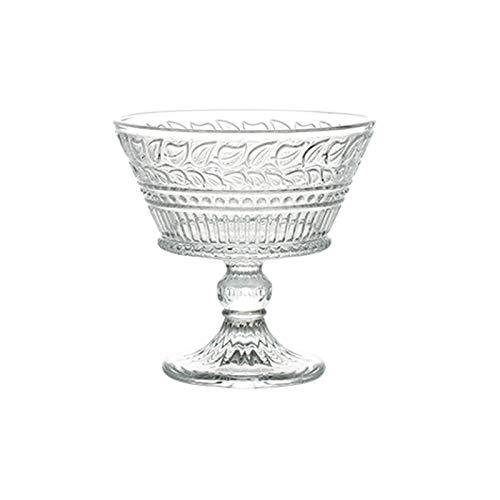 Einfachheit Eiscremetasse 300ml Becher Hohe Kapazität Glasschale Kristallglas Taille Tasse Stemware Glas Haushalt 8x11.8cm MUMUJIN
