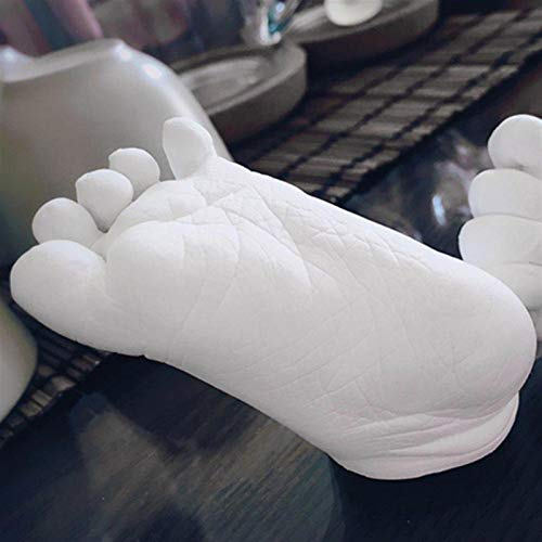 Dltmysh Footprint Kit & Handprint Kit 3D Plaster Powder Kids Handprints Footprints Hand Foot Save Modeling Clay Mini Kit DIY Hand Foot Casting