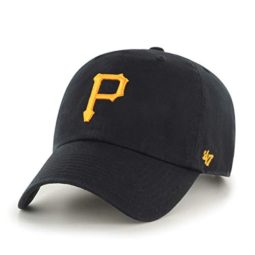 47 MLB Pittsburgh Pirates CLEAN UP Cap – 100% Garment Washed Cotton Relaxed Fit Unisex Baseball Cap Premium Quality Design and Craftsmanship by Generational Family Sportswear Brand