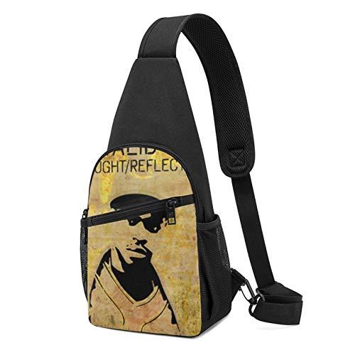 Sling Bag für Herren Anti-Diebstahl Schulterrucksack Leichte Crossbody Outdoor & Gym, Orange - Hi Tek Schwarz - Größe: Einheitsgröße