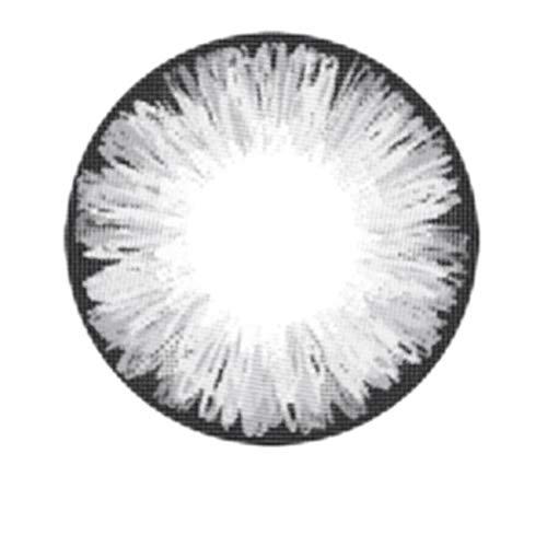 Matlens – EOS Farbige Kontaktlinsen ohne Stärke circle lenses gray grau ICE II 2 Linsen 1 Kontaktlinsenbehälter 1 Pflegemittel 50ml