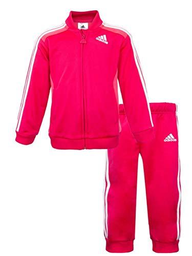Chandal Adidas l J 3S Knit FZ Rosa