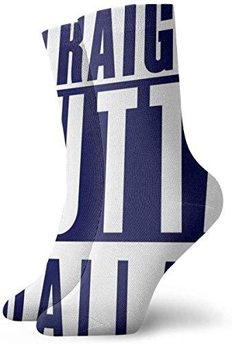 Kling Unisex Neuheit 3D Straight Outta Dallas gedruckt lustige athletische Crew Socken