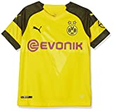 PUMA Unisex Kinder BVB Home Shirt Replica Junior Evonik with OPEL Logo Trikot, Cyber Yellow, 140
