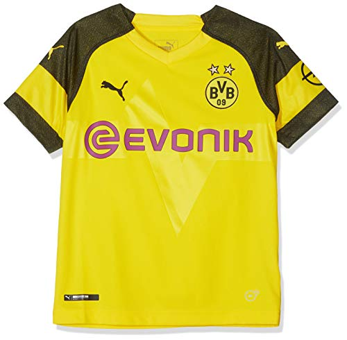 PUMA Kinder Trikot BVB Home Shirt Replica Jr with Evonik Logo with OPEL Logo, Cyber Yellow, 164, 753312