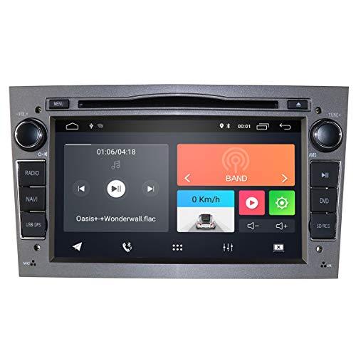 Radio para coche Android 10 con reproductor de DVD con Bluetooth, navegación GPS, pantalla táctil de 7 pulgadas, control de volante, compatible con Opel Antara, Vectra, Crosa, Vivaro, Zafira
