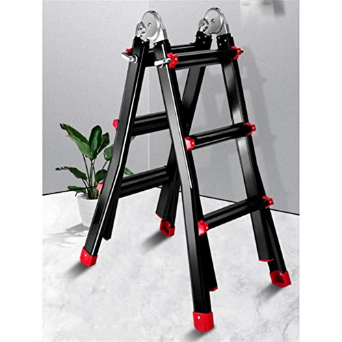 Multifunktions-Aluminium-Stufenleitern, Multi-Use Leiter, 300-Pfund-Duty Betrieb, kostenloses Installationsdesign (1,7 * 1,7 m)