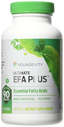90 Softgels Ultimate EFA Plus Youngevity Fish Oil (Ships Worldwide)